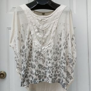 Free People Tops - FREE PEOPLE Dolman Lace Leopard